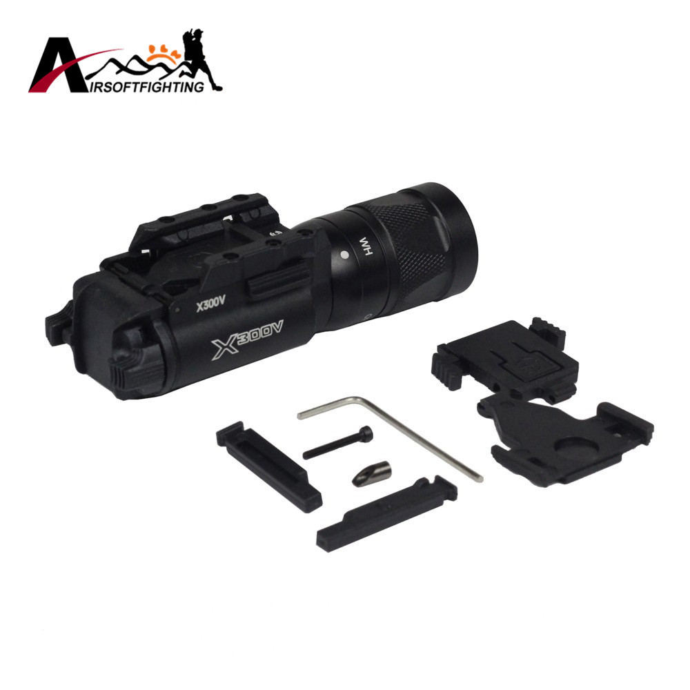 Element Airsoft X300V Tactical Vampire LED Pistol Light Strobe Version Weapon Light For Rifle Scope Hunting Tactical Torch EX381 x300 led weapon light for airsoft rifle scope for paintball hunting shooting black color free shipping