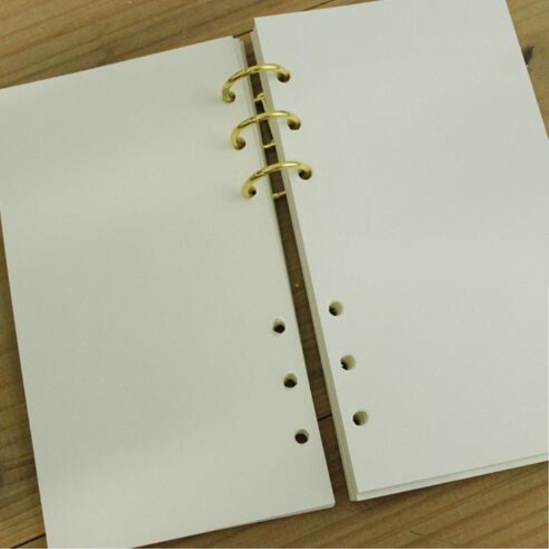 1 Pair Loose Leaf Spiral Notebook Stainless Steel Clip 3