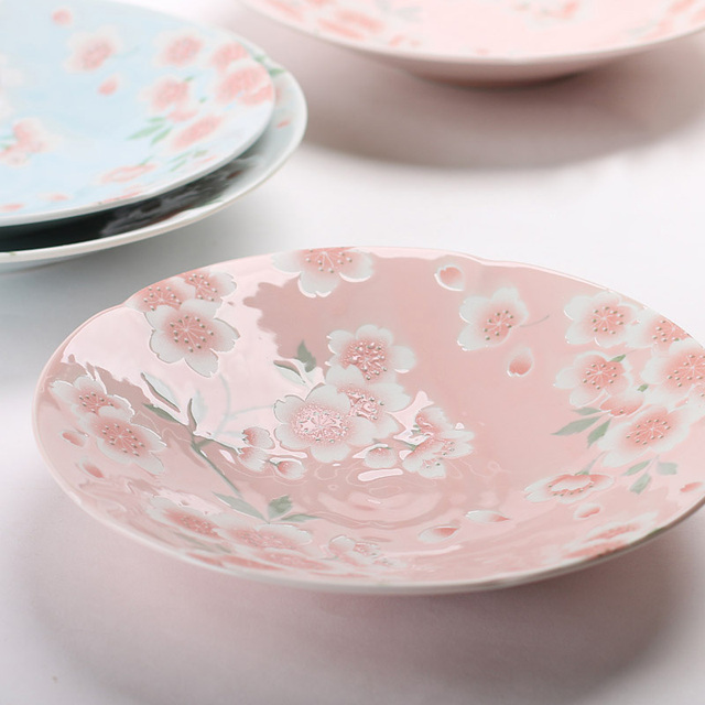 Quality Made in Japan Under Glazed Small Plate Ceramic Floral Sakura ...