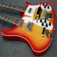 New Best quality custom Kpole Double neck rick 12 strings & 4 strings bass CS electric Guitar free shipping