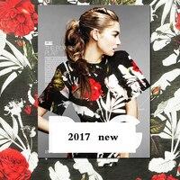 2016 algodão grosso tecido de algodão de seda de moda flores florescendo como um pedaço de brocado vestido de vestuário DIY tecido