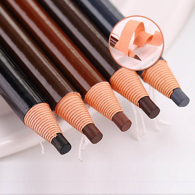 10pcs/set 5colors Available Eyebrow Pencil Shadows Cosmetics for Makeup Tint Waterproof Microblading Pen Eye Brow Natural Beauty 4