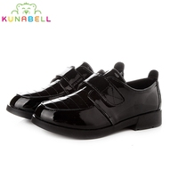 Boys Formal Leather Shoes Kids Performance Black White Shoes Children Chaussure Enfant Casual Hook Ninos Leather