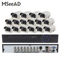 2.0MP AHD наружного видеонаблюдения Камера Системы комплект видеонаблюдения с 16CH 1080 P 16 каналов и 16 шт. ИК 50 м всепогодный Камера s