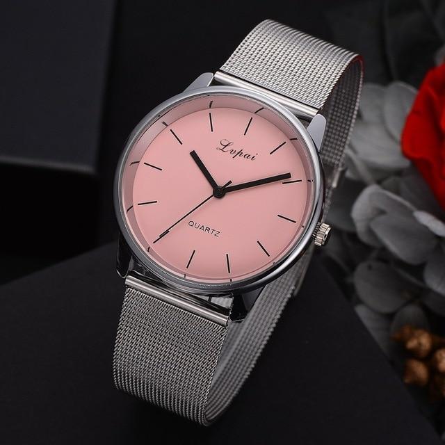 Luxury Silver Mesh Belt Girl Colorful Dial Bracelet Watch Women Ladies Casual Dr