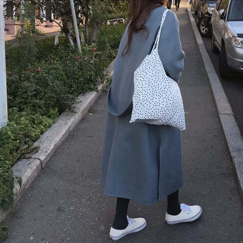 D'hiver Lâche Poches Cardigans Feminino Super Bleu Femmes Casaco Femme Plus Parka Laine Pardessus Hiver Taille Long Manteau La dvzqqwx