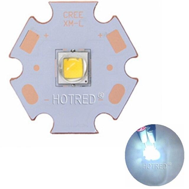 1pcs 10W CREE XM-L2 XML2 L2 Warm White 3000k ~ 3500k Cool White 6000k ~6500k LED Light Lamp Chip Bulb + 20mm Copper PCB Base