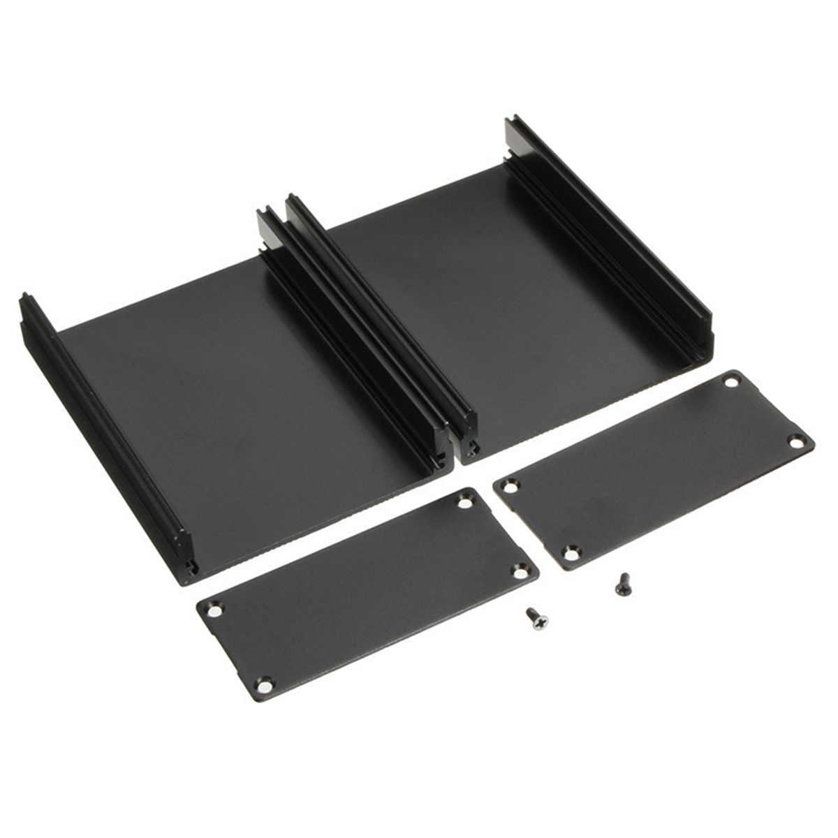 Mayitr Aluminum PCB Instrument Box Black Electronic Project Enclosure Case 100x76x35mm 1pc black aluminum enclosure case mayitr pcb instrument electronic project box 100x76x35mm