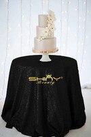 90in Round Sequin Tablecloth Black Glitter Circular Sequin Table Cloth Cool Black Table Cover at Wedding Ceremony Birthda ay