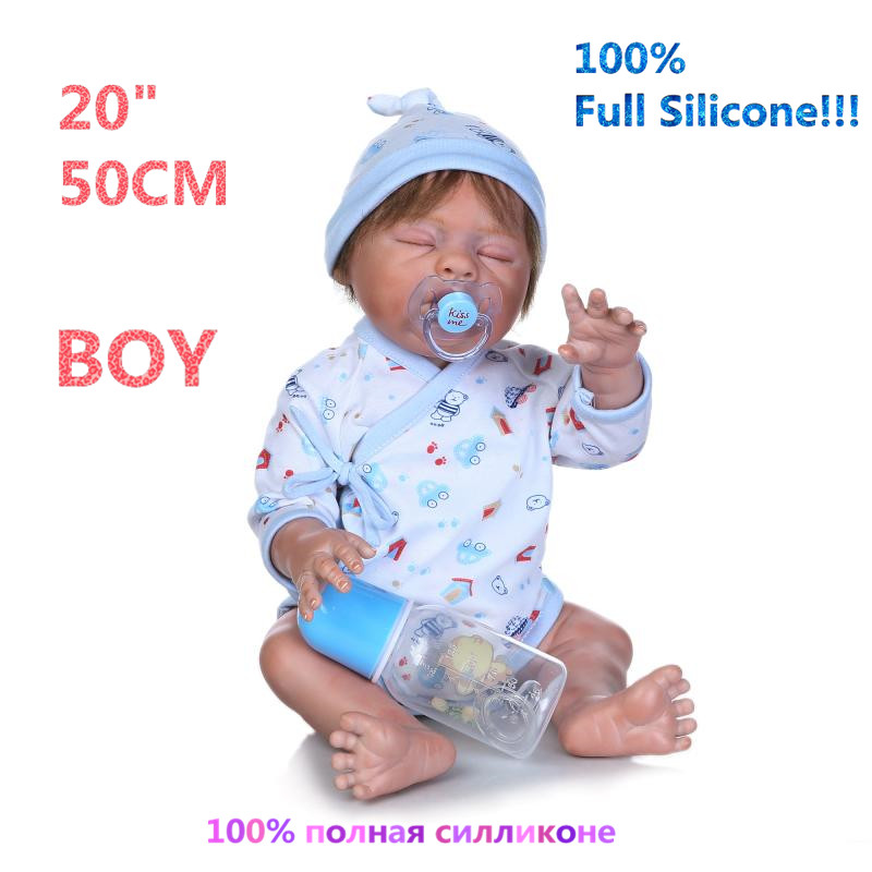 Newborn Realistic 100% Full Silicone Boy Doll Reborn Babies Brinquedo Realistic Simulation Soft lovely Reborn Dolls RB16-15H10 christmas gifts in europe and america early education full body silicone doll reborn babies brinquedo lifelike rb16 11h10