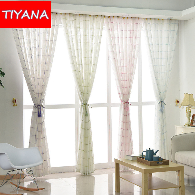 grommet hotel window sheer curtains purple tulle curtain fabric for living room striped linen voile for - Window Sheers