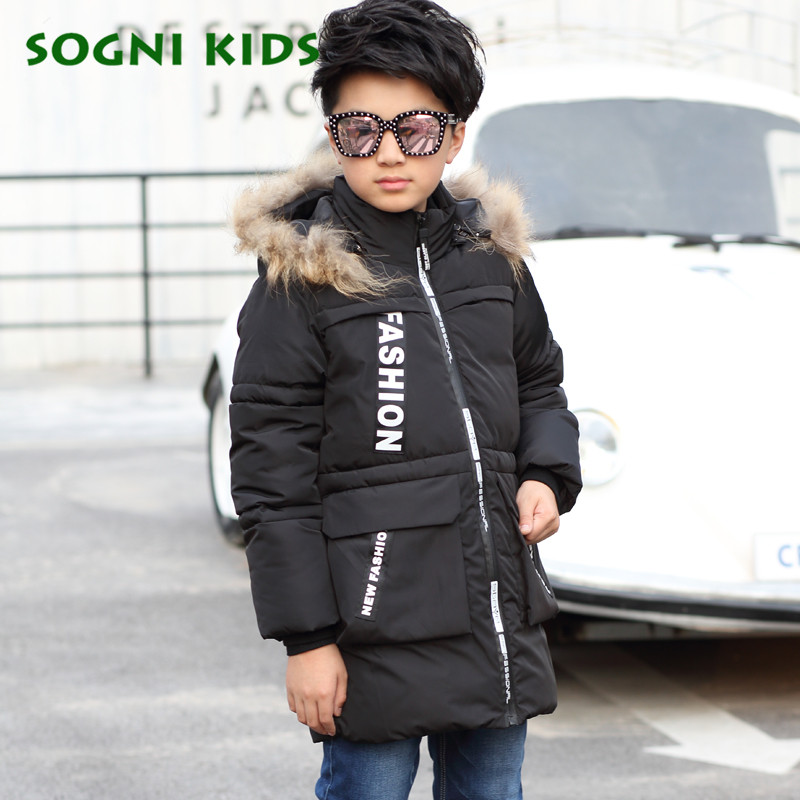 4-10Y 2017 Children GirlS Boys Clothes Jacket Cotton Parkas Kids Detachable Hooded Outerwear Thicken Warm For Long Winter Coats children winter coats jacket baby boys warm outerwear thickening outdoors kids snow proof coat parkas cotton padded clothes