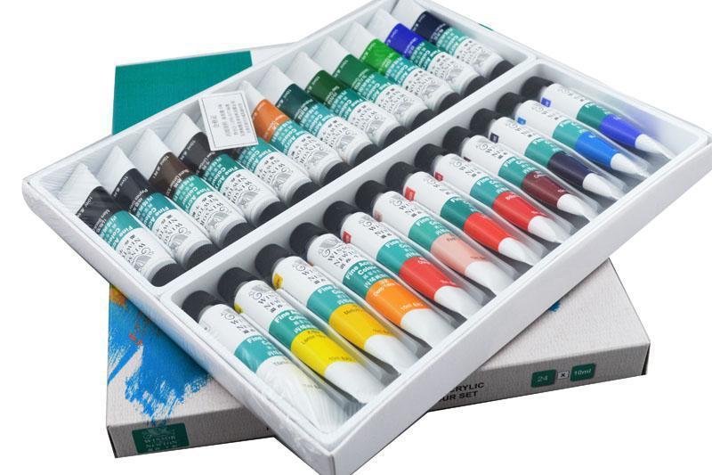 купить Winsor&Newton 24 colours Acrylic Paint  10ml/piece недорого