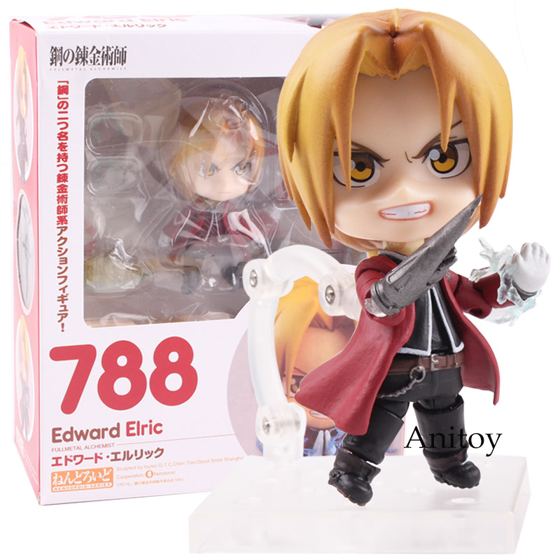 Goodsmile Nendoroid 788 Fullmetal Alchemist Edward Elric Anime Nendoroid Edward Elric PVC Figure Collectible Model Toy