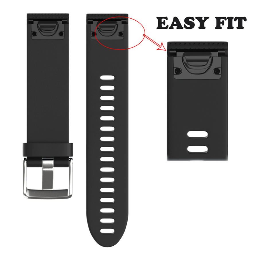 XBERSTAR Watchband Strap for Garmin Fenix 5S Replacement Band Quick Release Easy Fit Sports Silicone Wristband joyozy strap watchband for garmin fenix 5 fenix5 multisport gps watch 22mm sports silicone quick release wrist band with tools