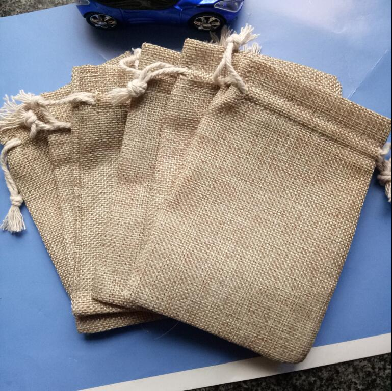 Hot 2018 New Arrivals In Jewelry Gift Bag Pouch Burlap Hessian Drawstring Bag Wedding Party Favor