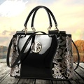 Bolsos Mujer 2017 New Europe fashion sequined chains Luxury patent leather famous brands design versatile handbag women bags