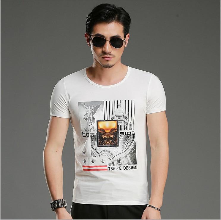 TBAIYE 2019 Rahat Lüks Pamuk Erkekler T-Shirt Marka Ince Kısa Kollu - Erkek Giyim - Fotoğraf 5