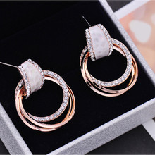 Fashion Accessories Brief  Pendant Earrings Female Personality Joker Contracted Eardrop Hipsters Jewelry women gift