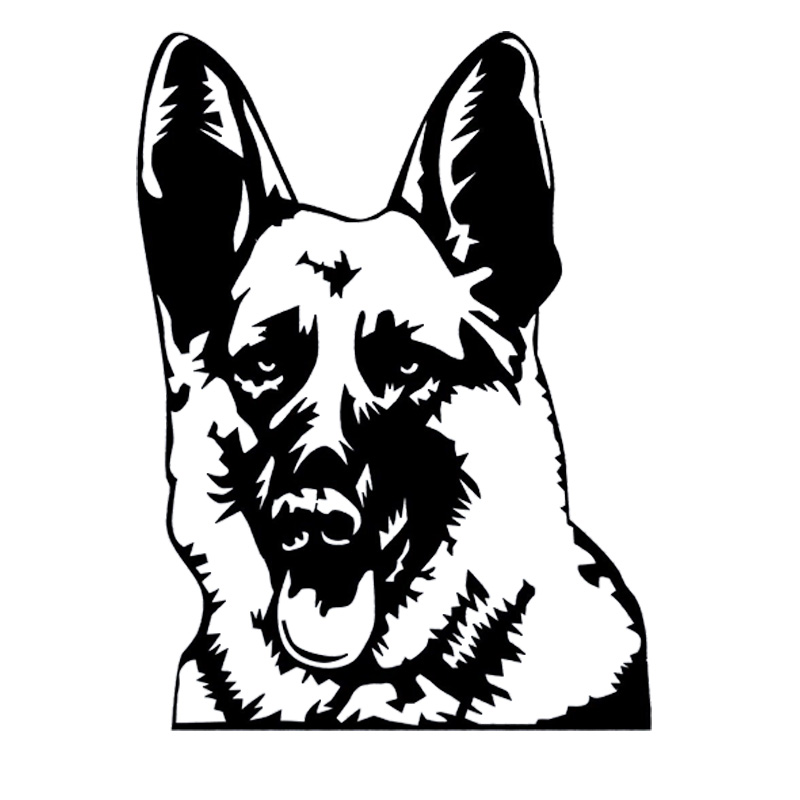 Yjzt 8cm6 3cm Funny Police Dog K9 Army German Shepherd Car Sticker