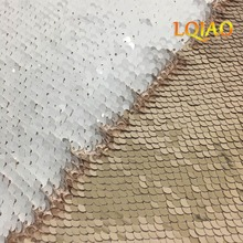 9FTX9FT 5MM Reversible Sequin Backdrop Curtain,Rose Gold-White Mermaid Flip Up Sequin Fabric Photography Backdrop-275cmX275cm