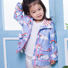 MIOCKY Autumn Children Clothing Girls Rainbow Hooded