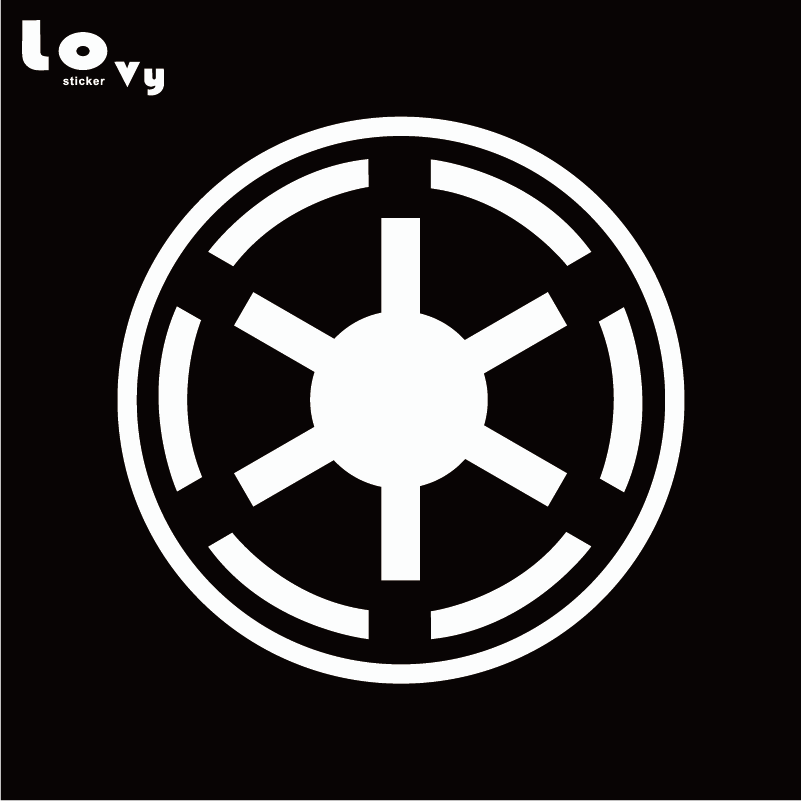 Star Wars Wall Sticker Galactic Republic Symbol Logo Viny Wall Decal