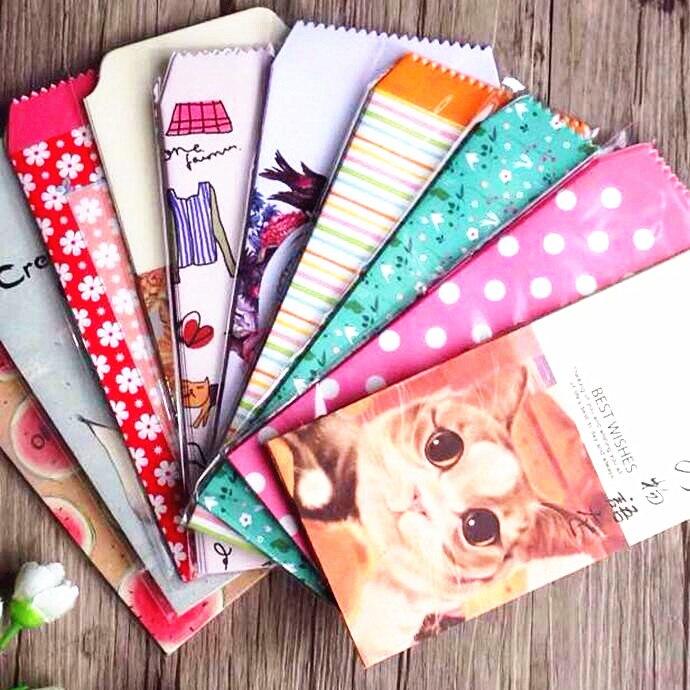 5pcs/pack  Kawaii Vintage Flower & Animal Series Paper Envelope Red Envelope Students' Funny Gift Bag Office School Supply