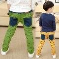 Бесплатная доставка новое прибытие детские брюки весна/осень boy хлопок печати досуг брюки развивать boy брюки