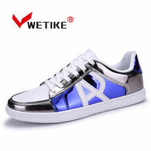 2017 Summer New Arrival Men's Skateboarding Shoes PU Leather Flat Shoes For Men Outdoor Sports Shoes Mens Sneakers US Size6.5-10