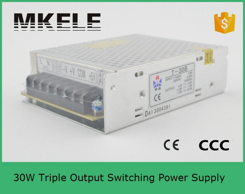 (T-30B) Factory outlet ! 30W 5V 12V -12V Triple output psu switching power supply from china factory factory direct triple output voltage 12v 5v 12v 100w swithing power supply high quality 2 years warranty t 100i