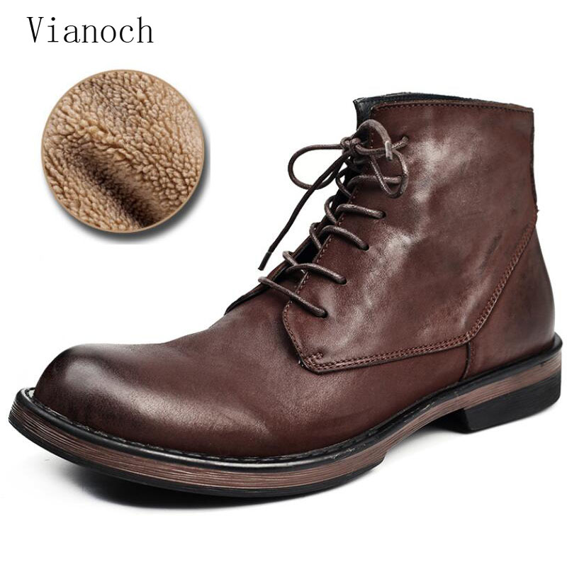 Mode nouvelle cheville Chelsea bottes hommes en cuir véritable bottes à lacets chaussures habillées bottes de travail homme men0067