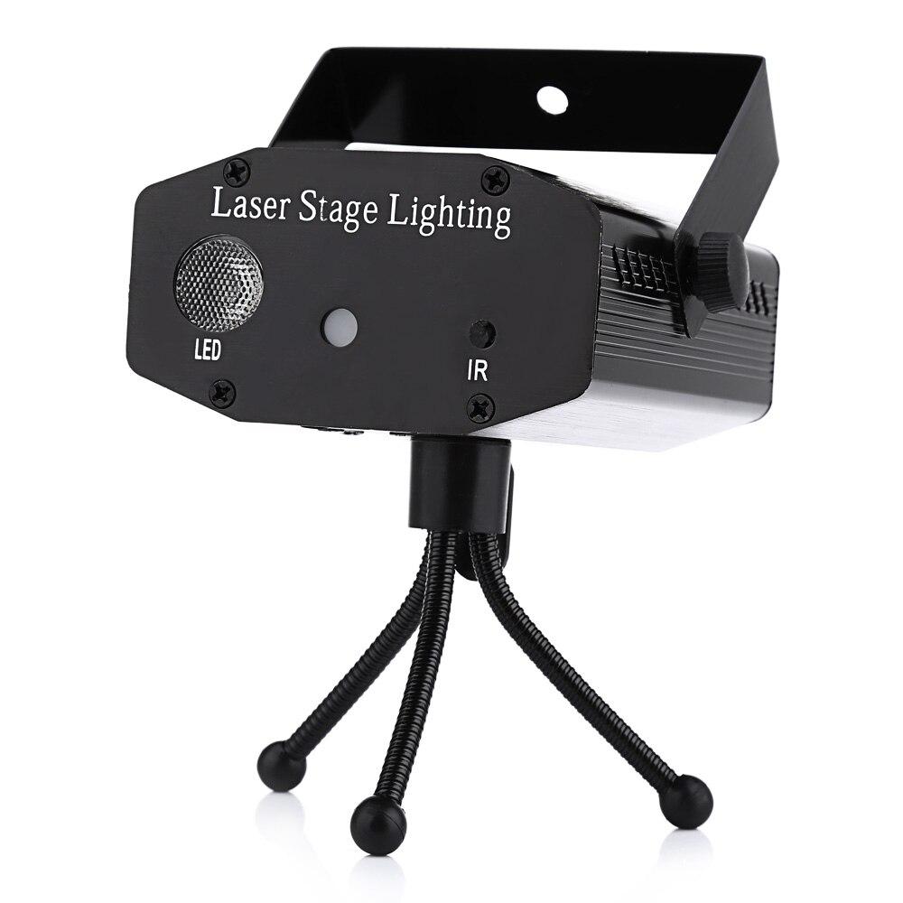 AC 100 240V 9W Mini LED Laser Stage Light RGB Projector Lighting ...