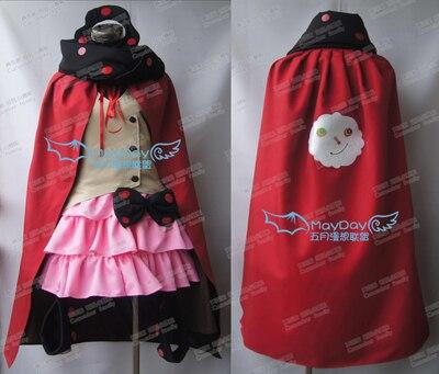 Puella Magi Madoka Magica Charlotte Cosplay Costume top+skirt+cloak+scarf