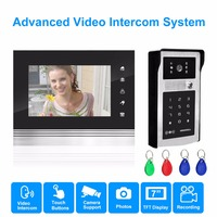 Homsecur 7 Inch Screen Monitor Video Intercom Deurbel Met Camera Bedraad Video Porteiro Fio Interphone Maison
