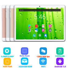 2019 Global Version Android 7.0 OS 10 inch tablet Octa Core 3G 4G FDD LTE 4GB RAM 64GB ROM 1280x800 Dual SIM Cards Tablet pc 10