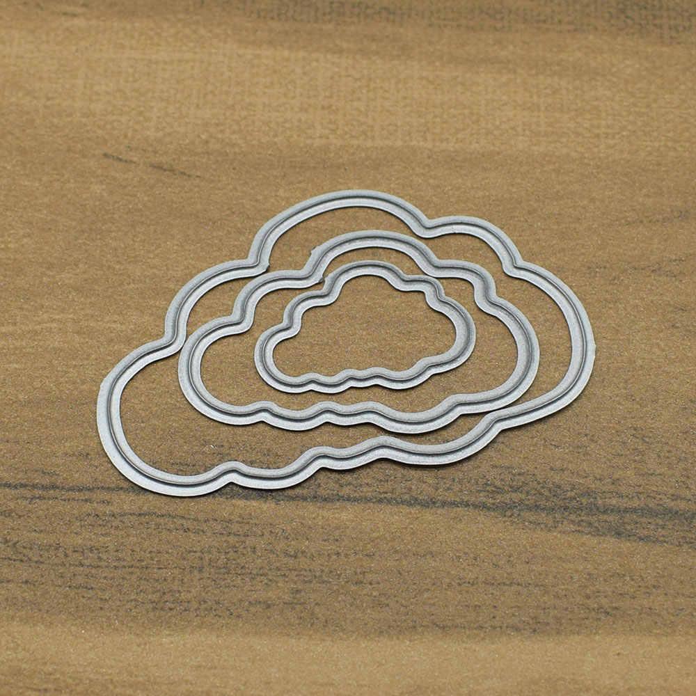 Circle Frame Flower Cutting Dies Stencils Scrapbooking Dies Metal DIY Embossing Photo Album Cards Making Kit Craft Dies