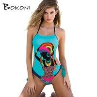 2017 Hot Monokini Character One Piece Swimsuit Retro Swimwear Bodysuit Bathing Suit Women Swim Female Biquini