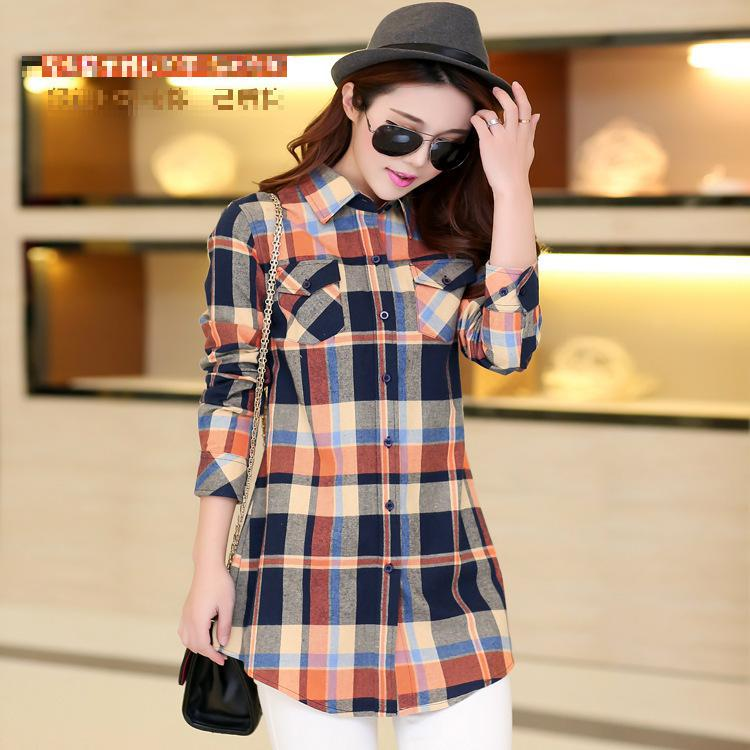2015 Fashion High Quality Women Tops Blusa Colorful Long