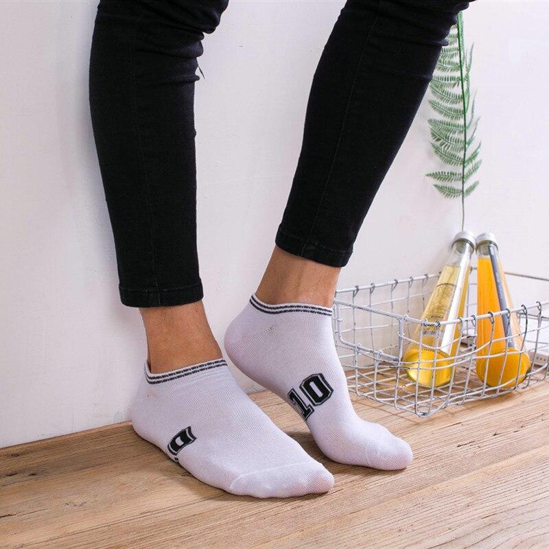 Men cotton socks unisex letter digital number double stripe pattern harajuku sox cool Sports skateboard socks art hipster sokken in Men 39 s Socks from Underwear amp Sleepwears