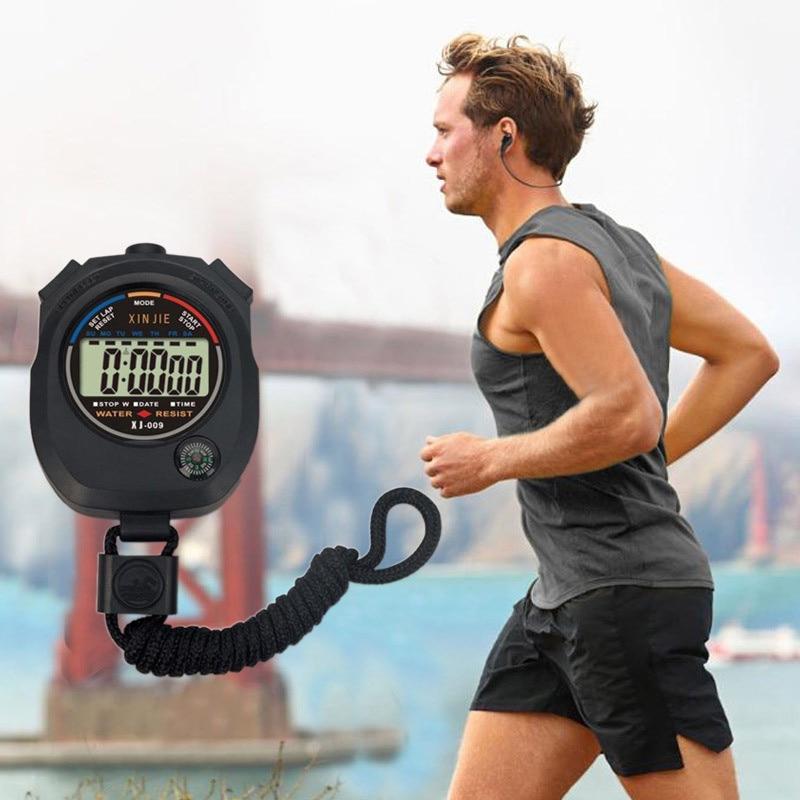 Waterproof Digital LCD Stopwatch Chronograph Timer Counter Sports Alarm