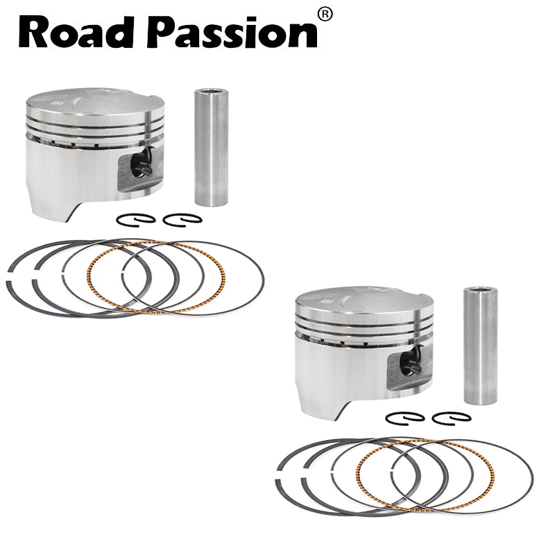 AHL Piston /& Piston Rings Pin Clips Kit for Honda Steed 400 Bros 400 Shadow 400 NC26 STD 64mm