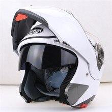 Todo el mundo Affordable casco de la motocicleta tirón encima del casco, casco modular, casco de carreras del envío gratuito JIEKAI-150