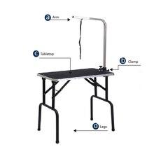 Высокое качество, маленький складной портативный стол для ухода за домашними животными из нержавеющей стали, стол для красоты, GT-202A