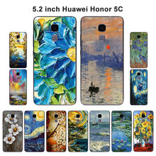 "Cases for Huawei Honor 5C /Honor 7 Lite Soft Silicon Back Cover Oil Painted for Huawei Honor7 Lite Honor5C 5.2"" Capa(China)"
