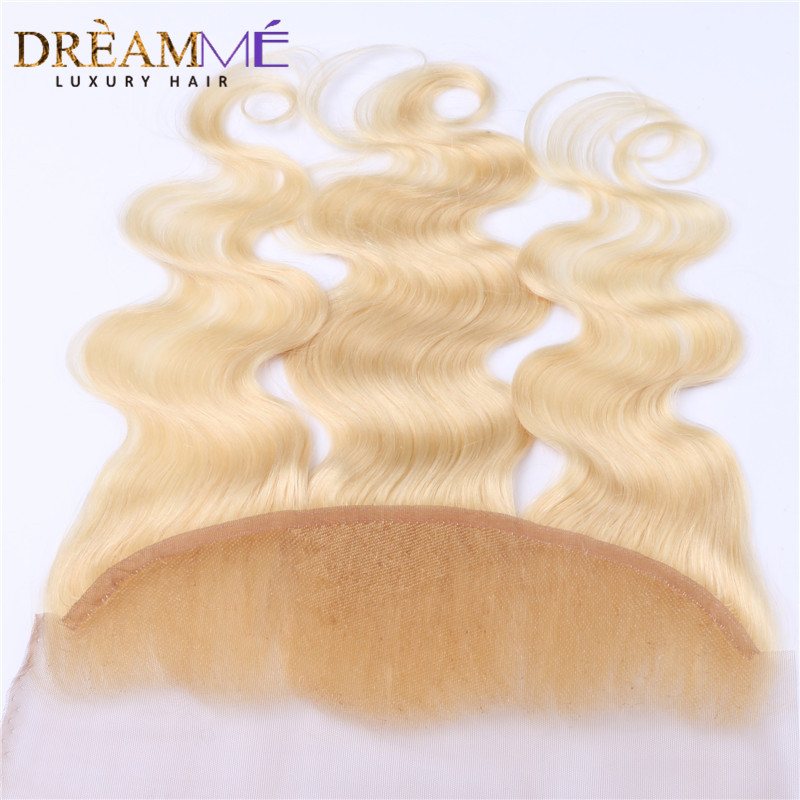 Dreamme Hair # 613 Barva las čelnih čelnih zaprtja Brazilski - Človeški lasje (za črne) - Fotografija 2