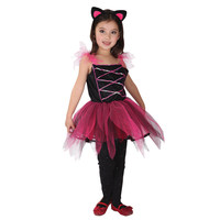 Umorden Kids Girls Little Black Cat Costume Lovely Cat Girl Dress with Tail Fantasy Dresses Halloween Carnival Party Costumes