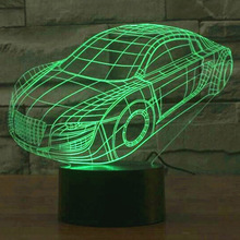 Car Model 3D Led Novelty Light 7 Colors Changing Night Lamp As Home Illumination Bedroom Decor Table Lampara De Mesa Best Gift