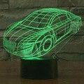 Modelo do carro 3D Levou Novidade Luz 7 Cores Em Mudança Da Lâmpada Noite como a Iluminação Casa Decoração Do Quarto Mesa Lampara de Mesa Melhor Presente