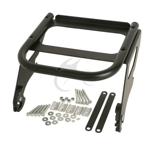 Black Detachable Solo Tour Pak Luggage Rack For Harley Touring Road King 97-08 Road King Street CVO Glide FLHT FLHX FLTR 97-08 black motorcycle rear view mirrors for harley flht touring flhx 2014 2016